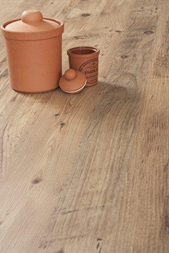 WORKTOPEXPRESS Rustikales Holz - Resopal Küchenarbeitsplatten (Rückwand 3m × 650mm × 13mm)
