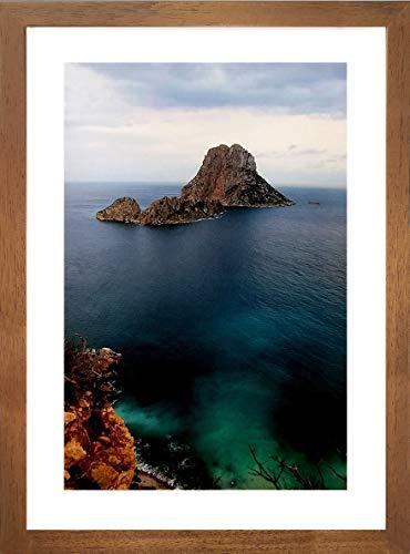 ART&FOTO BARCELONA Marco de Fotos Hecho a Mano 100% Artesanal de Madera y Cristal tamaño 21x30 decoración hogar Madera Color Miel. Fabricado en España (Marron Miel, 21x30)