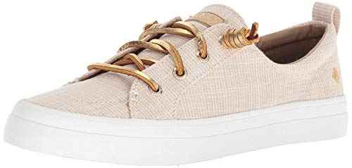 Price comparison product image Sperry Womens Crest Vibe Metallic Novelty Sneaker,  Gold,  5