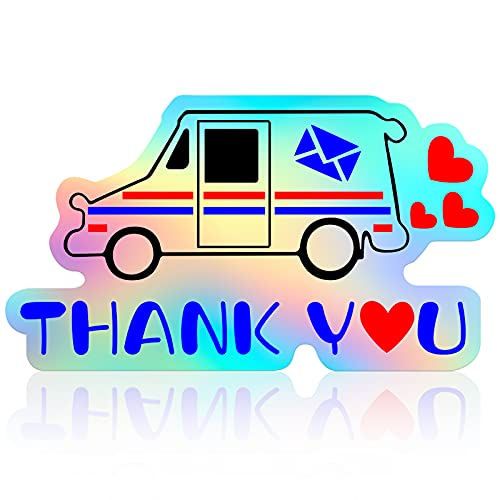 Thank You Mailbox Decal Mailbox Stickers Mailbox Decals Mailbox Thank You Decal Decorative Mailbox Thank You Decal for Mailbox Waterproof PET Letterbox Decal for Truck Laptop Letter Home Door