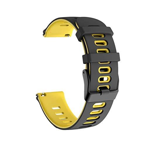 Correa De Reloj De Reloj para Garmin Vivoactive 4 3 / Venu Pulsera De Pulsera De Pulsera De Silicona Suave para Forerunner 245 245m 645 (Color : C, Size : Huawei GT2 46mm)