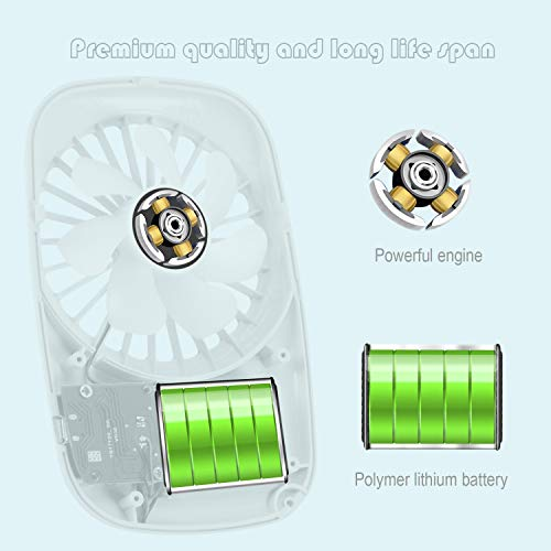 Aluan Handheld Fan Mini Fan Powerful Small Personal Portable Fan Speed Adjustable USB Rechargeable Eyelash Fan for Kids Girls Woman Man Home Office Outdoor Travel