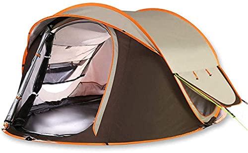 Ankon Portátil Familia Camping Tienda Tienda Tienda Al Aire Libre 3-4 Personas Campaña Automática Camping Doble Hombre Impermeable para Pesca Mochilero (Color : Brown, Size : 220x220x140cm)