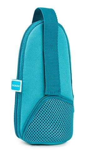 MAM - Borsa termica con strato isolante, mantiene i liquidi caldi e freddi, borsa termica per molti biberon comuni, blu