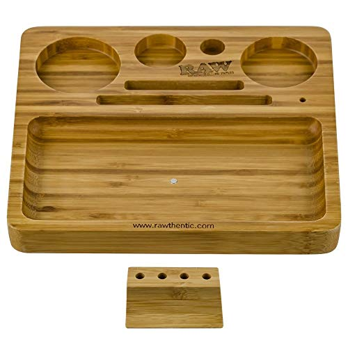 Imagen del productoBandeja de Liar RAW Rolling Bamboo Tray (22x20x2cm)