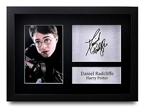 HWC Trading Daniel Radcliffe A4 Gerahmte Signiert Gedruckt Autogramme Bild Druck-Fotoanzeige Geschenk Für Harry Potter Filmfans