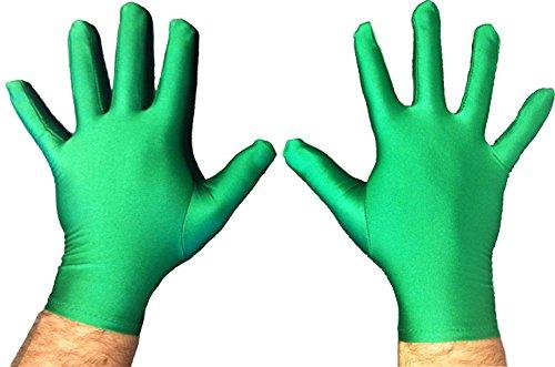 Superhero Costume Gloves (Green)