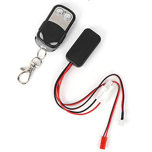 Tbest Winch Remote Controller, Winch Interruptor Controlador Kit Fit for 1:10 KM2 RC Crawler Accesorio
