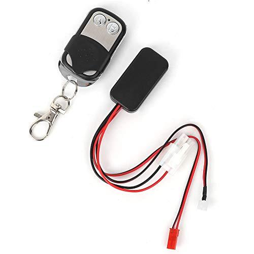 Dilwe RC Winde,Elektronische Winde mit Drahtlose Fernbedienung für 1:10 SCX10 D90 D110 TF2 TRX4 KM2 RC Car