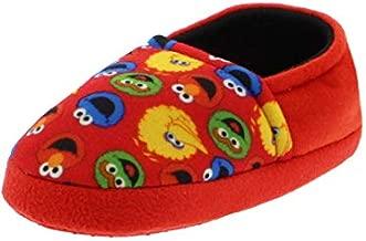 Sesame Street Boys Girls Aline Slippers (5-6 M US Toddler, Sesame Street Red)