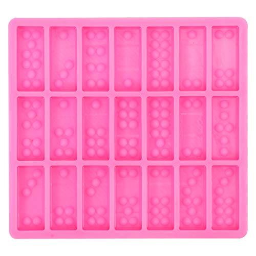 Artibetter Domino Moule Bonbons Moule pour Résine Silicone Moule de Cuisson Dominos Moules à Chocolat Gâteau Outil de Fabrication de Bijoux Moule en Argile pour Le Dessert Bricolage Époxy