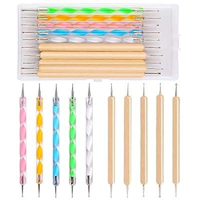 10-teiliges Punktierwerkzeug-Set Punktierstifte mehrfarbiges