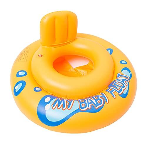 Baby Swim Safe Asiento, Piscina para Niños, (Paso A) Aprende A Nadar Inflable Redondo, Amarillo, 0-12 Meses