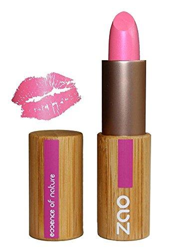 ZAO Pearly Lipstick 403 fuchsia pink kräftiges rosa, schimmernder Lippenstift, in nachfüllbarer...