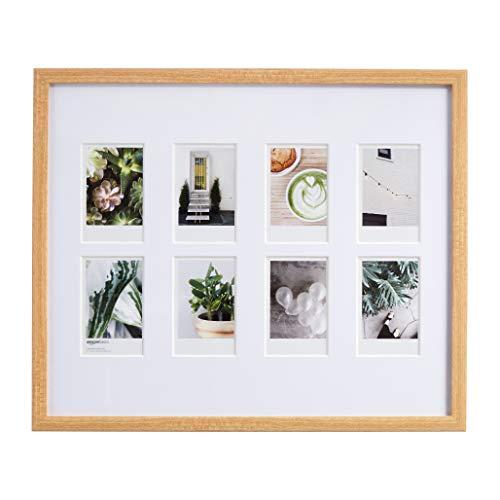 AmazonBasics Cadre photo pour instantané Instax - 8 photos - 8 x 5 cm, Naturel