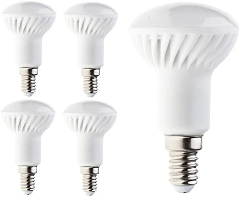 PanderLights 5er Pack SET E14 LED R50 Lampe 5W 450lm (Ersetzt ca. 40W) Neutralwei - SMD LED Leuchtmittel - 120° Abstrahlwinkel