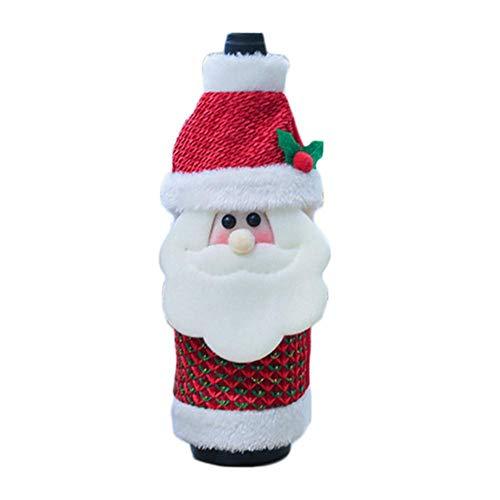 Bolsa para Botella de Vino de Navidad, suéter para Botella de champán, para decoración de Botellas de Fiesta, Navidad