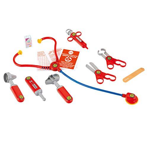 Theo Klein 4457 Arztkoffer I Mit Stethoskop, Thermometer, Spritze und vielem mehr I Robuster Koffer mit praktischem Tragegriff I Maße: 24 cm x 11 cm x 19 cm I Spielzeug für Kinder ab 3 Jahren