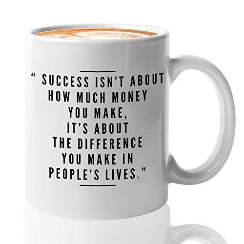 Jopath Taza de café con cita empowering, 308 ml, éxito no es acerca de cuánto dinero