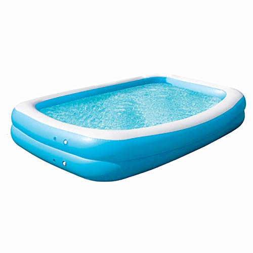 Wild 'N Wet - Jumbo Paddling Pool, Garden Paddling Pools, 2.6m Blue Large Family Pool, Large Paddling Pool for Kids, Garden Toys, Paddling Pool Adults