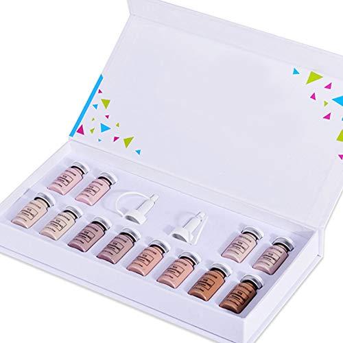 Anti Aging Kit Esencia, Esencia de la cara de maquillaje líquida Primer Fundación Anti arrugas y el acné Conjunto para la piel facial cuidado de la belleza (Sólo Fundación)