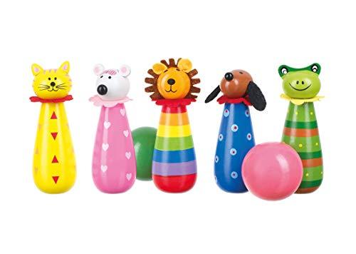 Orange Tree Toys 46024 OTT03573 Kegelspiel Tiere, Bunt
