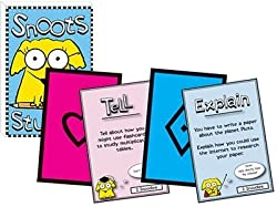 Picture of Snoots and cards from Snoots Studies: A kid's game of study skills.