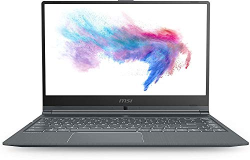 MSI Modern 14 A10RB-684ES Laptop 14 inch FHD (Intel Core I7-10510U, 16GB RAM, 512GB SSD, Nvidia MX250-2GB, Windows 10) zilver - Spaans QWERTY-toetsenbord