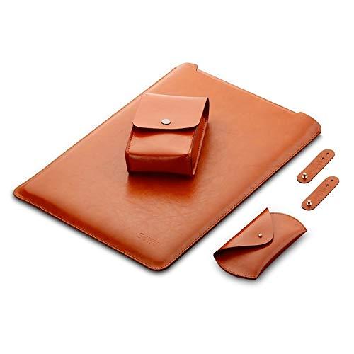 Hanks' shop 4 In 1 Laptop Microfiber Leather Inner Bag + Power Bag + Mouse Storage Bag + 2 Winders For MacBook Pro 13.3 Inch A1708 (2016-2017) / A1706 (2016-2017),laptop bag
