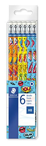 Staedtler Edition Comic - Set 6 Crayons Graphite Hb Avec Embout Gomme
