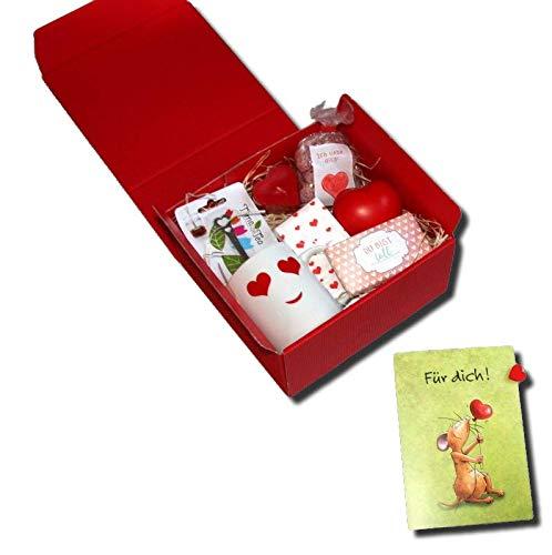 Generisch Caja de regalo de San Valentín con corazones a juego.