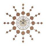 YANGYUAN Nordic hogar Moderno Mute Reloj atmósfera Simple de la Personalidad Arte Creativa de la Pared del Reloj de la Sala