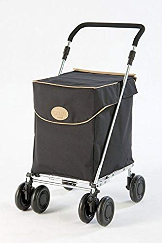 Sholley® Foldable Shopping Trolley 'Westminster, Grocery Cart, Strong & Stable, Aids Mobility, Height & Angle Adjustable Handle, 4 wheels, 6 wheels, Easy to Push, Ladies, Mens & Unisex Designs