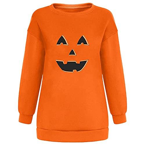 Pianshanzi Rainbow Shirts - Sudadera para mujer, abrigos informales, manga larga, estampado de arcoíris, sudadera con capucha, manga larga, B naranja., M