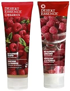 Desert Essence Red Raspberry Shampoo and Conditioner Bundle With Aloe Leaf Juice, Jojoba, Vitamin B-5 and Shea Butter, 8 f...