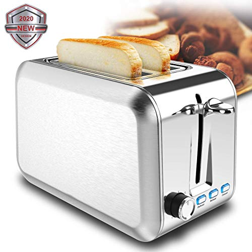 Toaster Stainless Steel Toaster Best Rated Prime Toasters with 7 Shade Settings Reheat bagel Cancel Function and Removable Crumb Tray Wide Slots toaster for Bread Waffles