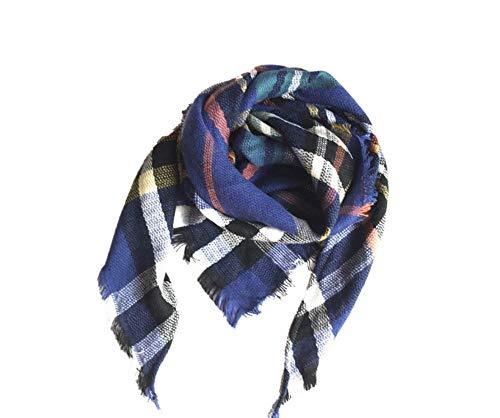 YUAYUAYUA Tücher Und Schals Damen Herbst Und Winter Nachahmung Kaschmirschal Kinder Plaid Quadrat Schal Dreieck Schal Schalkragen @C