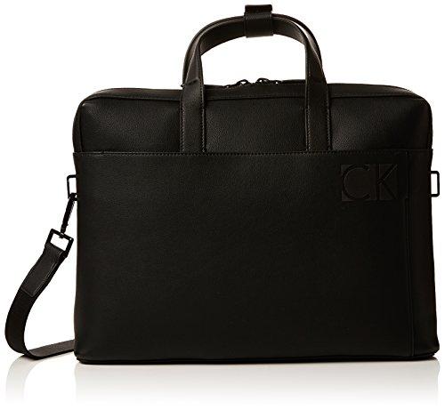 Calvin Klein Hi-profile Slim Laptop Bag - Borse per PC portatili Uomo, Nero (Black), 6x28x38 cm (B x H T)