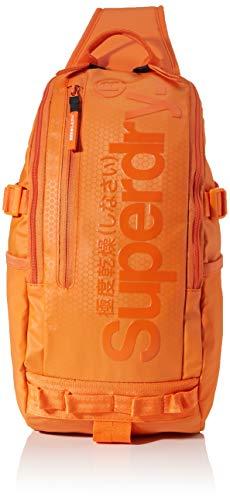 Superdry Herren Hardy Sling Bag Schultertasche, Orange (Hazard Orange), 11x43x20 cm