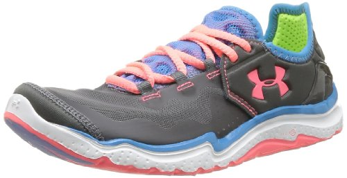 Under Armour Charge RC 2, Zapatillas de Running para Mujer, Charcoal/Electric Blue, 37.5 EU