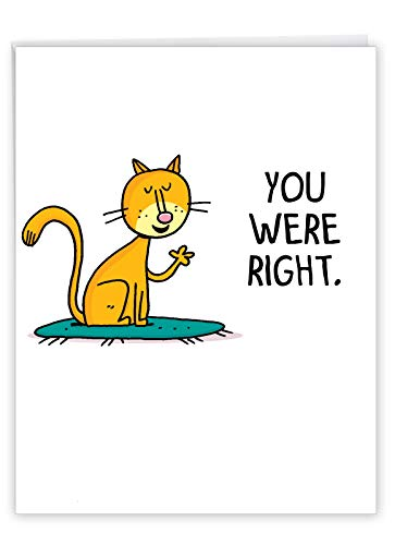 NobleWorks, Big Funny Mother's Day Card (8.5 x 11 Inch) - Jumbo Cartoon Notecard for Moms, Stepmom - You Were Right J1610MDG