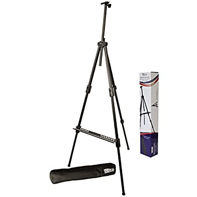 US Art Supply Huntington Aluminum Tripod Field Easel