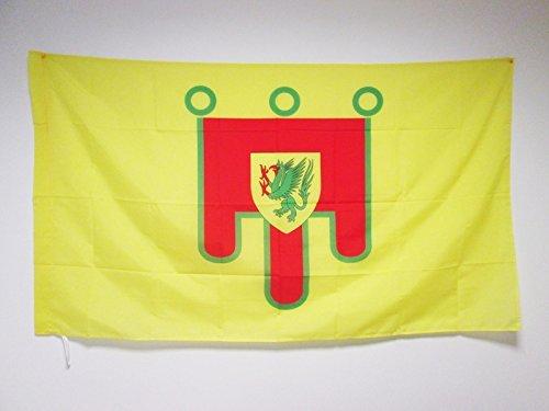 Zudrold Bandiera del Dipartimento Francese di PUY de Dme 3 'x 5' per Un palo Bandiere della Francia 90 x 150 cm Banner 90 x 150 cm con Foro