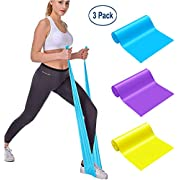 MOKOSS Resistance Bands, Professional Exercise Bands Long Natural Latex Elastic Bands, Perfect for Strength Training, Physical Therapy, Yoga, Pilates, Stretching
