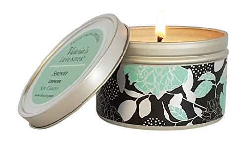 Victoria's Lavender Luxury Scented Candles | Essential Oil Soy Wax Aromatherapy Candle (Serenity Lavender) | Made in USA