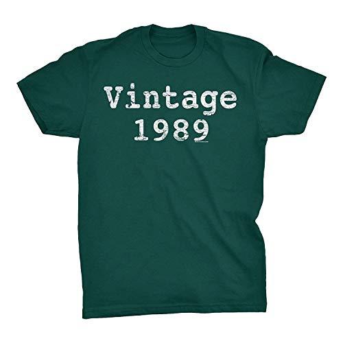 NR 30 cumpleaños Regalo de la Camiseta - Vintage 1989 Apenado de impresión - Tipo, XX-Large, Forestgreen