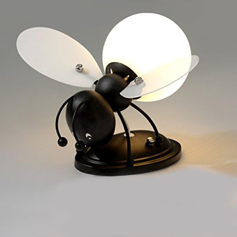 Wandlampe Kreatives Kinderzimmerkarikaturjungenmdchen Nachttischlampen Karte Biene LED Kinder Wandlampe A+ (Farbe   Schwarz-Weies Licht)
