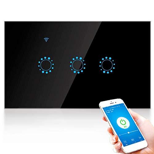 G-Home - Interruttore touch intelligente wireless, WiFi 1/2/3 bande, interruttore remoto da parete per luci, con app vocale, con supporto per funzione di sincronizzazione Alexa Echo, G-Home