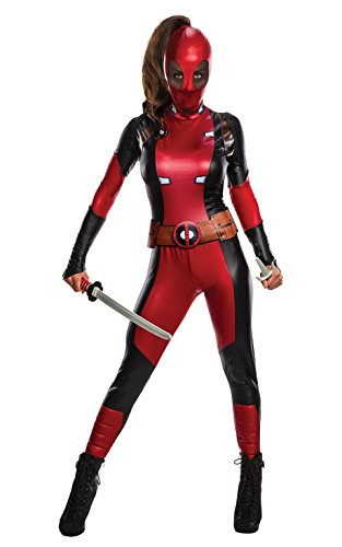 Rubies Disfraz oficial de Disney Marvel Deadpool para mujer, gama Secret Wishes, talla XS para mujer, Reino Unido 6-8