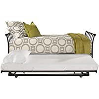 Hillsdale Furniture Midland Backless Daybed with Trundle Twin Black Sparkle